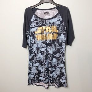 Star Wars night shirt gown dress size Xlarge